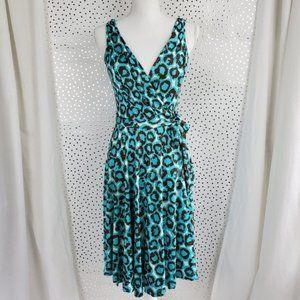 DVF Turquoise Midi Wrap Dress